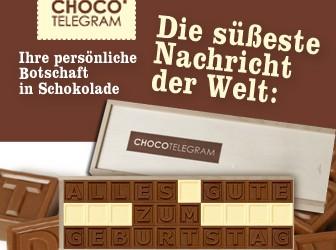 Liebesbotschaft aus Schokolade